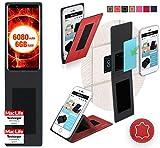 Ulefone Power 3 Hülle Cover Case in Rot Leder - innovative