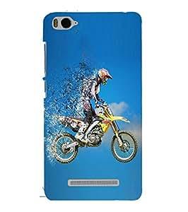 Fuson Designer Phone Back Case Cover Xiaomi Redmi Mi 4c :: Redmi Mi 4c ( Biker Racing Illustration )