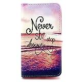 LG G3S Case - Flip Cover Leder Wallet Case Schutzhülle