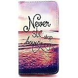 LG G3S Funda,PU Cuero Cartera Case Cubrir Funda de Piel para LG G3 S(LG G3 mini/LG G3 Beat) Flip Case Cover Carcasa Piel Caso protectora Con soporte(#1)