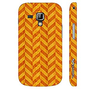 Samsung Galaxy Duos 7562 Red Leaf designer mobile hard shell case by Enthopia