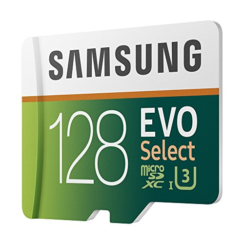 Samsung 128GB 100MB/s (U3) MicroSD Evo Select Memory Card with Adapter (MB-ME128GA/EU)
