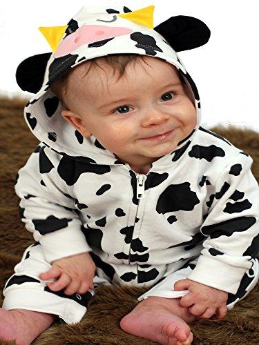 Kostüm 10 Beliebtesten - Niedliche Baby Kuh Einteiler/Baby Kostüm/Kuh Baby Kleidung Baby Geschenkidee für Jungen oder Mädchen von Baby Moo