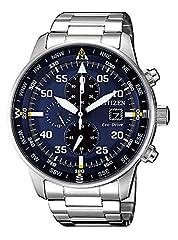 Idea Regalo - CITIZEN Orologio Uomo Cronografo Of Collection Aviator Chrono CA0690-88L