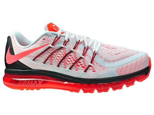 Nike Air Max 2015, Running Entrainement Homme White / Bright Crimson / Black