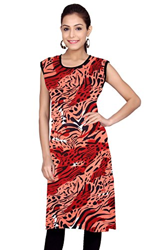 Kurti Studio Tiger Maroon Unstitched Cotton Kurti Dress Material