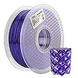 AMOLEN Imprimante 3D Filament PLA 1.75mm, Soie Pourpre 1KG,+/- 0.03 mm Matériaux d'impression 3D en filament, comprend des échantillons de Filament de Glow in the Dark Bleu.