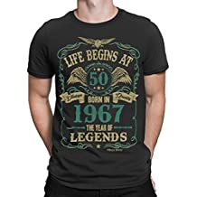 Life Begins At 50 Hombres Camiseta - BORN In 1967 Year of Legends 50th Regalo de cumpleaños Buzz Shirts ®