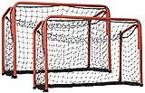 GSI 2 Floorball-Tor Unihockey Tore mit Federmechanismus, zusammenklappbar 60 x 90 cm, für Schule und Verein
