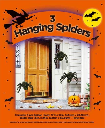 3 Aufhängen Spinnen Set Stuff Ihre Eigenen Halloween Dekoration Indoor Outdoor Scary Decor