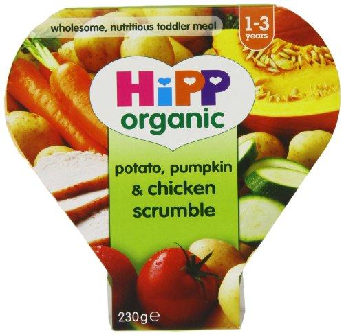 Hipp Organic Potato/ Pumpkin/ Chicken Scrumble Tray Meal from 12 Months 230 g (Pack of 5)