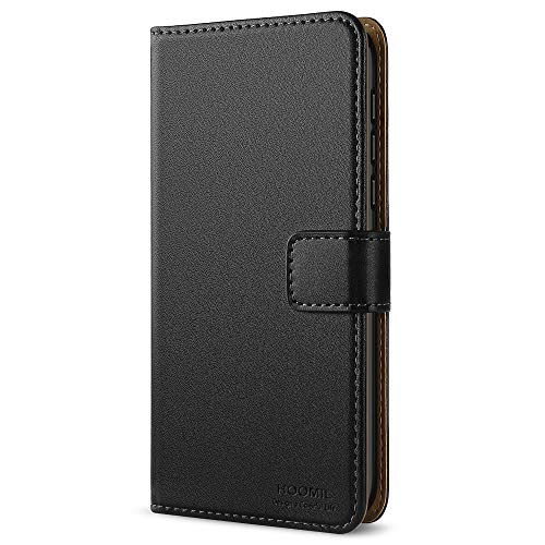HOOMIL Handyhülle für Nokia 5 Hülle, Premium PU Leder Flip Schutzhülle für Nokia 5 Tasche, Schwarz