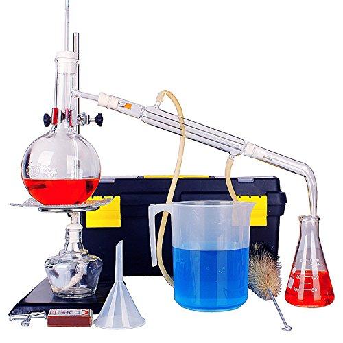 New 500ml Total Lab ätherisches Öl Destillation Apparat Wasser Brenner Luftreiniger Glaswaren Kits, LD01 -