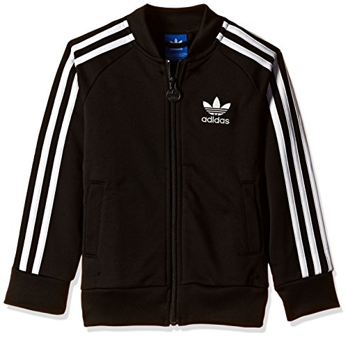 adidas Originals Boys' Jacket (AI6182_Black and White_8 - 9 years)