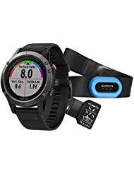 Garmin fenix 5 - Cardiofréquencemètre - Performer Bundle / Premium HRM-Tri Brustgurt gris/noir 2017 cardio velo