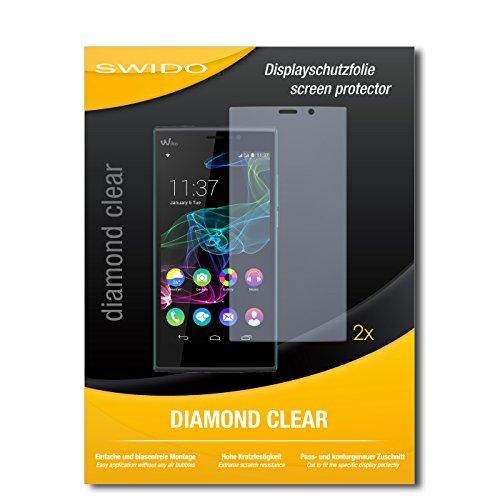 2 x SWIDO® Bildschirmschutzfolie Wiko Ridge Fab 4G Schutzfolie Folie