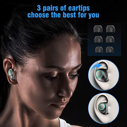 Bluetooth Kopfhörer Muzili V5.0 Bluetooth Kopfhörer in Ear, TWS Hi-Fi Bluetooth Headset kabellos IPX5 Wasserdicht Kopfhörer mit Mikrofon und 3000mAh Ladebox für Samsung Huawei Sony Black Berry HTC - 4