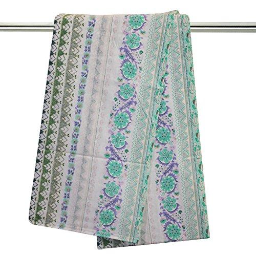 Telo multiuso granfoulard d' arredo bassetti life copridivano copriletto cm 270 x 270 matrimoniale foulard (cali col. 2 - verde acqua)