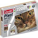 Quercetti - Pixel Art, set de creatividad, 7200 piezas en 6 colores, 37 x 33 cm, diseño gato (QA0816)