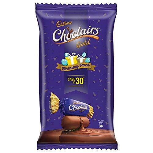 Cadbury Choclairs Birthday Pack 115 Candies, 655.5g