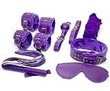 Pnbb Sm bedroom bondage Slave Passion 7 pcs Sex Bondage Kits Set Bed Restraints for Couple Lover Adult (Purple) by PNBB