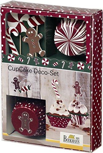 CupCake Deco-Set, Candy Christmas: 36-tlg. - 24 Förmchen, 12 Fahnen