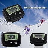 2 x schwarz Mini LCD Schrittzähler Pedometer Schrittmesser Jogging Sport