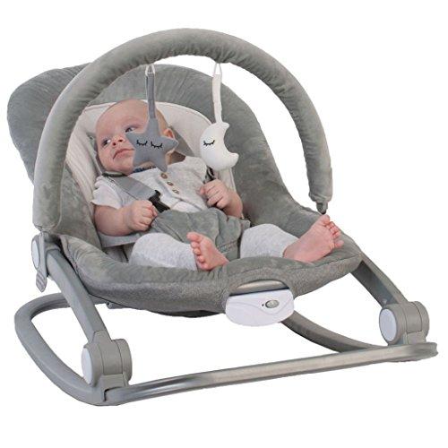 Bo Jungle Babyschaukel Babywippe Schaukelwippe Babyliege Wippe mit Spielbogen