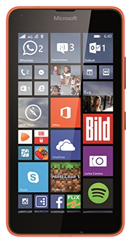 Microsoft Lumia 640 Smartphone (5 Zoll (12,7 cm) Touch-Display, 8 GB Speicher, Windows 10) orange
