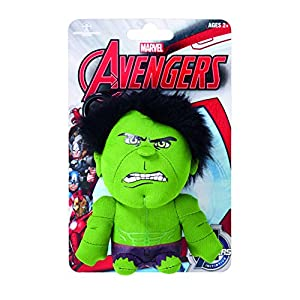 Underground Toys Juguetes subterráneas avg01829 - Figura Marvel Mini Felpa con Sonido y Colgante Hulk, 10 cm