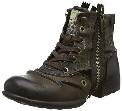 REPLAY Herren Clutch Biker Boots, Braun (Dk Brn Militar), 42 EU