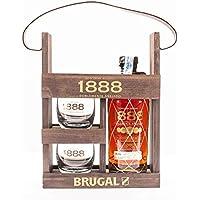 Estuche Brugal 1888 + 2 Vasos - 700 ml