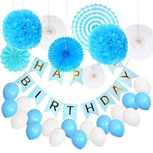 lu Tissue Papier PomPoms, Seiderpapier-Blumen mit Quaste und Girlande für Geburtstag/Hochzeit/Party/Baby-Shower ()