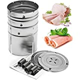 Pinkdose® Goonbq 1 Pc 3 Layers Ham Press Maker Stainless Steel Round Boiled Pork Device Meat Hamburger Press Mold