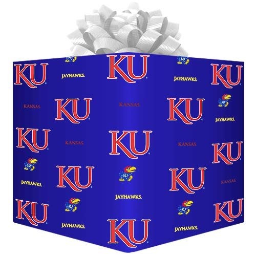Logo Gift Wrap Paper - Royal Blue (Ncaa Football Logos)