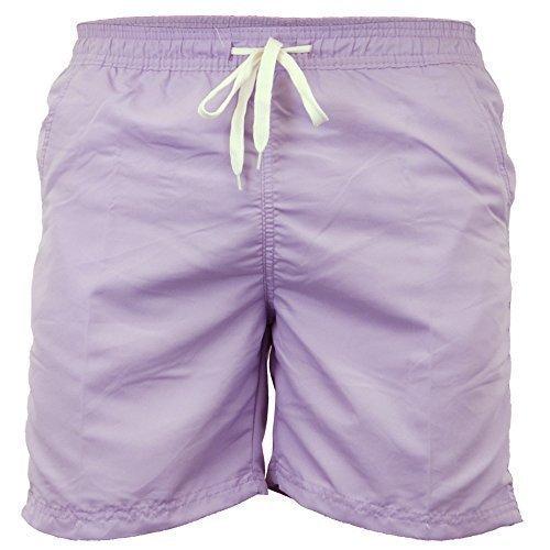 Pantaloncini Da Bagno Uomo Soul Star Trunks Lunghezza Al Ginocchio A Rete Spiaggia Cordicella Estate Nuovo Lilla - LANASHORTZ