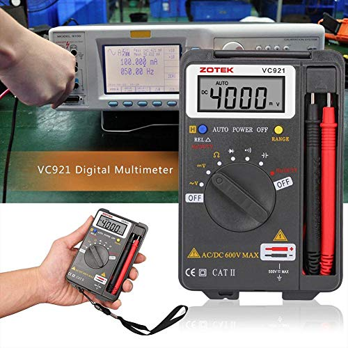 DMM Mini-Handgerät, digitales Multimeter, tragbares Voltmeter, Amperemeter, Ohmmeter, Multitester – 4000 Zähler Autoranging Pocket Auto Range Tester – AC DC Spannung Strom Widerstand Tester Elektrischer Tester