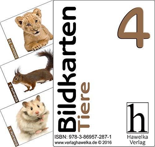 Bildkarten 4 (50 Aktivierungskarten - mit Tiere) - ideal in der Altenpflege, Geriatrie und Heimbetreuung, Biografiearbeit, Sprachförderung, Pädagogik, Therapie - im Spielkarten-Etui