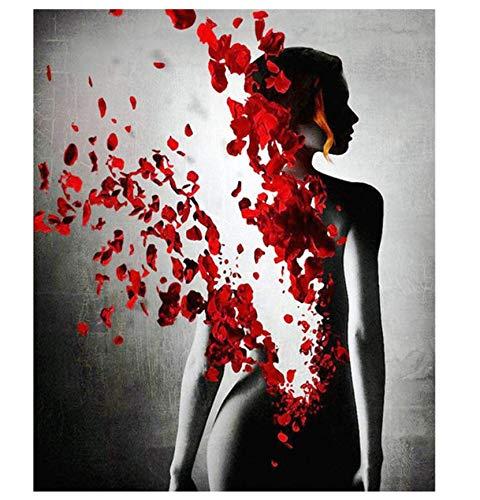 Forlingnight Wohnkultur DIY Diamant Malerei Bohrmaschine Diamant Schönheit Blumen Stickerei Mosaik Bilder Von Strass-30x40cm