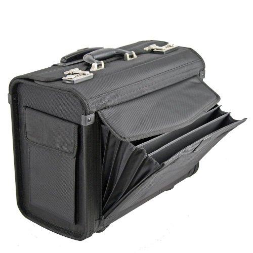 Dermata Pilotenkoffer Trolley 45,5 cm Laptopfach schwarz - 2