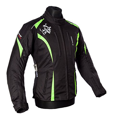 Roleff Racewear Motorradjacke Lady Latina, Neon Gelb, Größe M