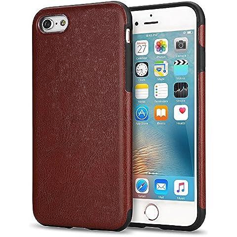 Funda iPhone 6s Plus, Tendlin Carcasa Cuero Flexible de Silicona TPU Híbrido Delgado Suave Funda para iPhone 6 Plus y iPhone 6s Plus (Cuero