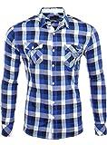 Reslad RS-7060 Herren Freizeithemd Orlando Gr. L, Blue - Blue