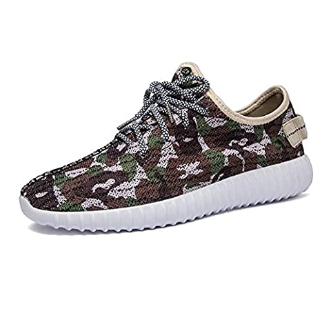 Baskets en maille de camouflage pour hommes / garçons chaussures de sport décontractées d