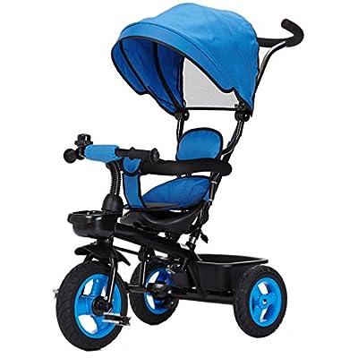 YC electronics Sillas de Paseo Asiento Giratorio Desmontable Respaldo reclinable Niños Niños Triciclo Wning Adecuado para 6 Meses -5 años Niños Sillas Ligeras