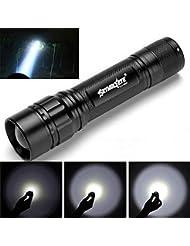 Internet 3000 Lumens Tactical LED CREE XML XPE lampe de poche Super Bright militaire de grade étanche titulaire Torche 3 Modes Alimenté par la batterie 1 x 18650 (Batterie non compris)