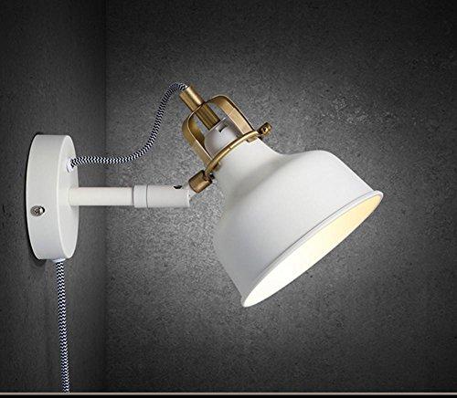 HHORD Kupfer-Kunst-Wand-Licht US Stil Land-Art-Wind-Wand-Licht Rocker White Light Retro Wohnzimmer Schlafzimmer Nachtbeleuchtung