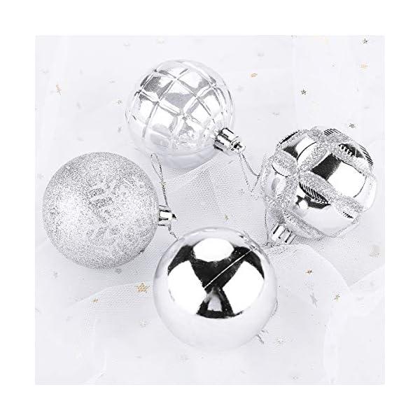 Aitsite 24PCS Palle di Natale 6CM Plastica Palle e Palline per L'Albero Impostare Ornamento Dell'Albero per la… 5 spesavip