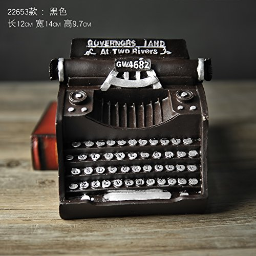 El viejo modelo de máquinas de escribir adornos Home cafés Internet para manejar la resina antigua artesanía escaparate decoraciones suave , pequeña
