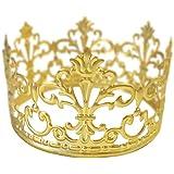 BESTONZON Corona Oro Decoración para Tarta Oro Boda/Cumpleaños Decoración para Rey, Reina,